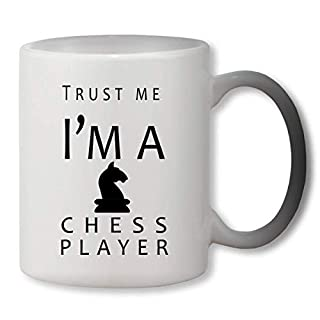 KRISSY Trust Me I'm A Chess Player Heat Mug Color Changing Cup Farbwechsel Tasse