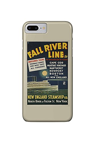 Fall River Line (Long Island Steamer) Vintage Poster c. 1935 (iPhone 7 Plus Cell Phone Case, Slim Barely There) -