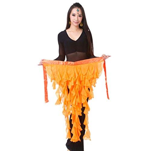 YouPue Bauchtanz Hüfttuch & Schal Bauchtanz Hüfttuch Gürtel mit Pailletten & Quasten ägyptischen Stil Netto Hüfttuch Orange (Bauchtanz Kostüme Ägyptischen Stil)