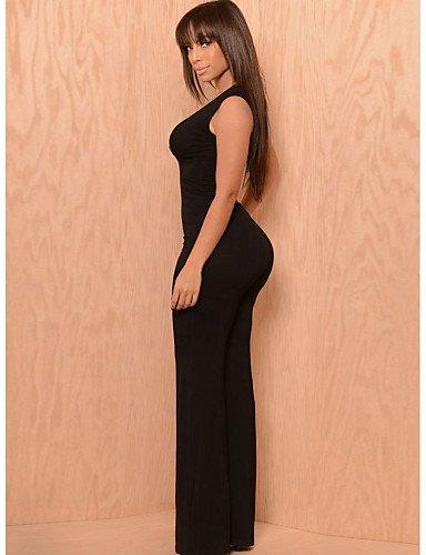 GSP-Combinaisons Aux femmes Sans Manches Sexy/Décontracté/Soirée Polyester/Mélanges de Coton Fin Micro-élastique camel-l
