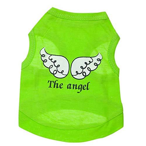 ste The Angel Polyester Engelsflügel Atmungsaktiv Hemd Ärmelloses Hunde T-Shirt Hund Kleider Haustierzubehör Sweatshirt ()