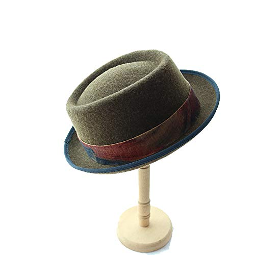 Ying xinguang Wollfilzhut Männer und Frauen Hüte Lose Jazz-Hut. ! (Farbe : Olive Green) - Olive Womens Hut