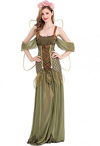 (shoperama Zauberhafte Waldelfe Damen Kostüm mit Flügeln Fee Pixie Tinkerbell Elfe Got Mittelalter, Größe:M)