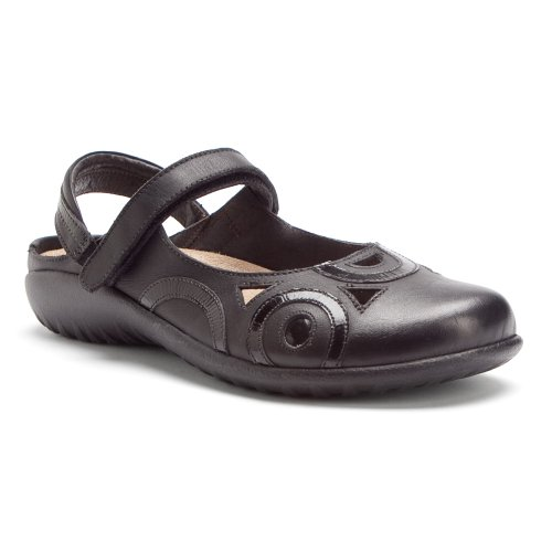 Naot Womens Rongo Leather Sandals Noir