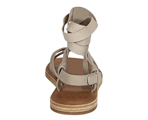 Spartiates Miu Miu pour femme en daim blanc foncé - Code modèle: 5X9720 008 F0482 Blanc Cassé