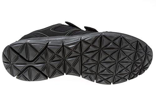 Gibra® Uomo Sport scarpe, con chiusura in velcro, Nero, taglia 41–46 Nero (nero)