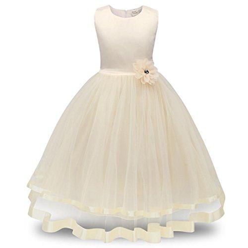 Kolylong-Dguisement-Robe-Tutu-Princesse-Sans-manche-de-Nol-pour-Enfant-Fille-Des-vtements-formels-Costume-deguisement-Robe-longue-fleur-Girls-Bowknot-Dress