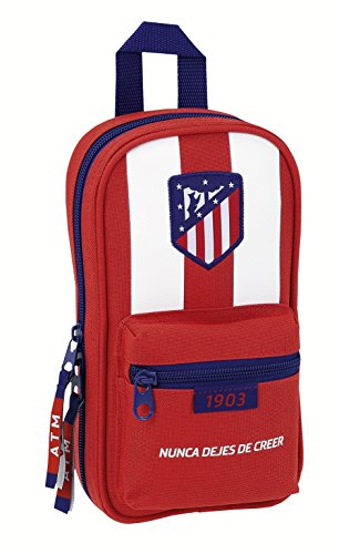Atletico De Madrid – Plumier mochila con 4 portatodos de atletico de madrid (Safta 411758847)