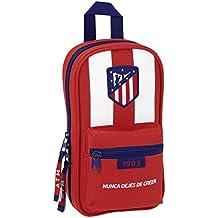 Atletico De Madrid - Plumier mochila con 4 portatodos de atletico de madrid (Safta 411758847)
