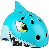 VORCOOL Casco de la bici de los niños, casco Multi-Sport cascos de tiburón de la historieta 3D arnés ajustable de 3 a 7 años para el tamaño de la cabeza ...