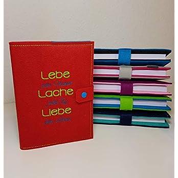 Jahresplaner Hülle inklusive Kalender 2020 in A5 aus Filz individuell bestickt – personalisiert – Buchhülle – Notizbuch – Organizer