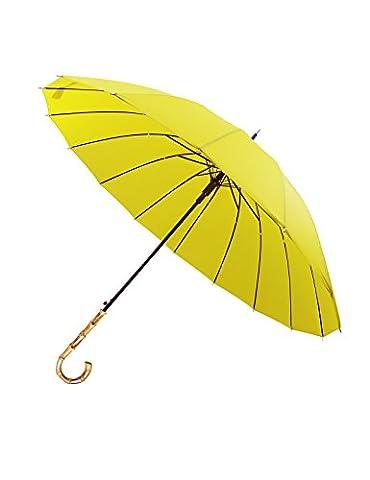 Lonior Sturdy Windproof Umbrella 47 Inch Big Canopy 16 Robust Fiberglass Ribs Auto Open Stick Umbrella Stylish Hook Handle Bamboo Umbrella-Unisex