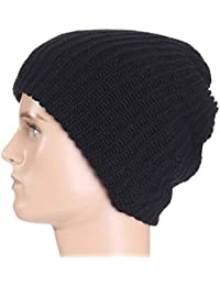 Kangcheng Hombre para Mujer Beanie Slouch Skull suéter Hecho Punto Hat Cap  Novedad f19730a80a7