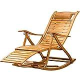 SjYsXm- Liegen Klappbarer Schaukelstuhl Lounge Chair Relax Chair Verstellbarer Sessel Rocker Senioren-Break-Sessel mit massagbarer Fußstütze