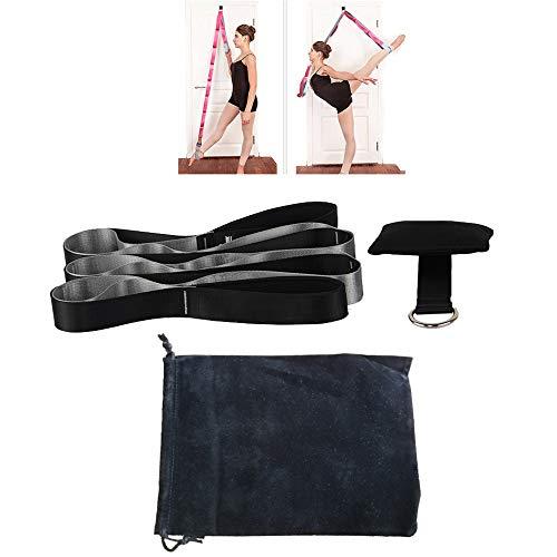 ZZKJNIU Yoga Stretching Belt - Fitness Beinpresse AusrüStung, Heimtanz, Gymnastik Hilfstraining AusrüStung, GesamtläNge: 221 cm/Breite: 0,8 cm,Black Good Grips Black Turner