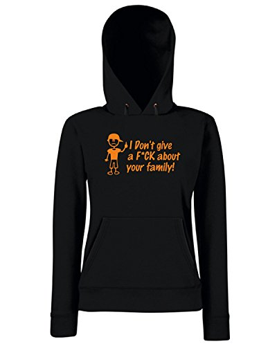 T-Shirtshock - Sweats a capuche Femme FUN0607 anti stick family die cut decal 06 15622 Noir