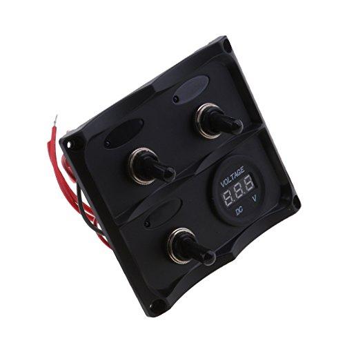 IPOTCH Wasserdichte Wippschalter Panel Schutzschalter Für Auto RV Marine Boot Max Dauerbelastung AC: 125V/16A 250V/10A Ac-leistungsschalter-panel