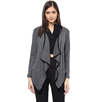 109 F Women Grey Solid Shrug S Size