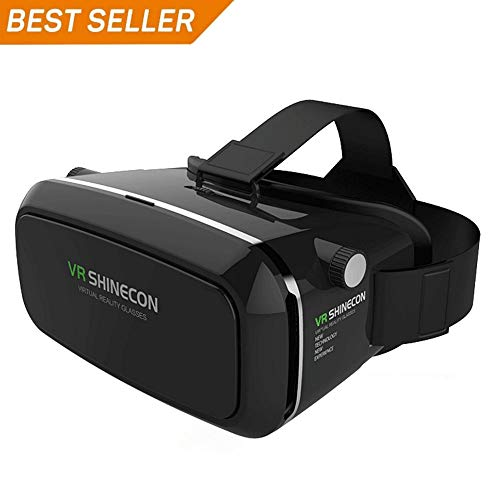 Virtual Reality Headset,3D VR Glasses,Virtual Reality Box,VR Headset for 3D  Movies Video Games, Compatible with Android IOS and Other 3 5''-6 0''