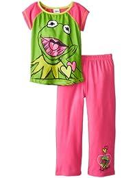 Komar Big Girls'  Muppets Kermit 2 Piece Pajama Set