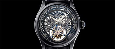Men's MO0123 Auspicious Series Black Tourbillon Watch