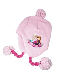 3c88a3ecd0a0 La Reine des Neiges Bonnet péruvien Fille Frozen - Rose