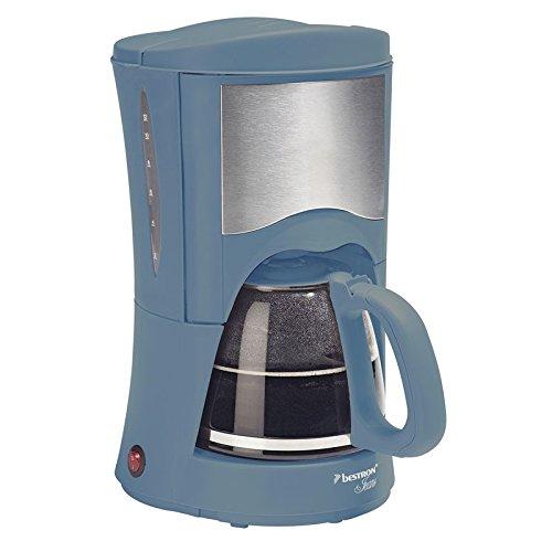Bestron ACM2009 - Cafetera (Independiente, Cafetera de filtro, Azul, Acero inoxidable, Tapa con bisagra, De café molido, Café)