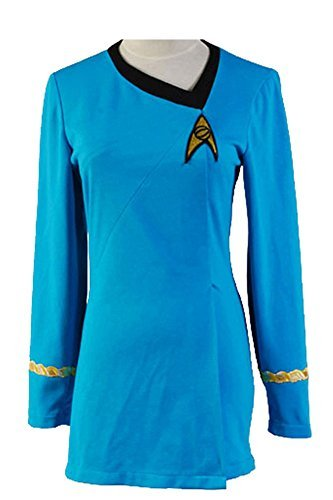 Star Trek Uniform Kleid TOS Kostüm Damen Blau L