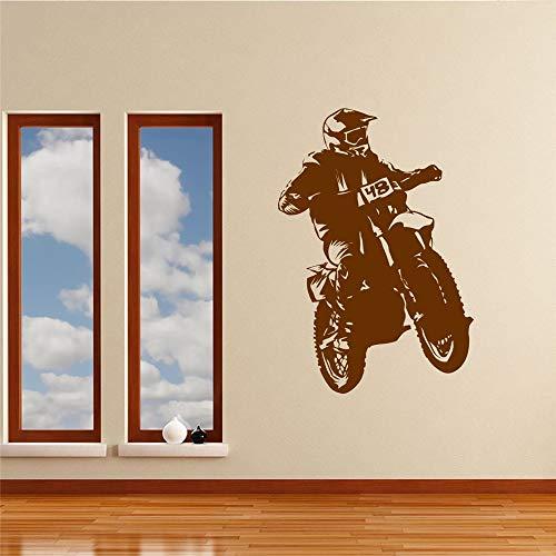 stickers muraux bebe papillon Moto Saut Sports pour salle de séjour chambre d'enfant