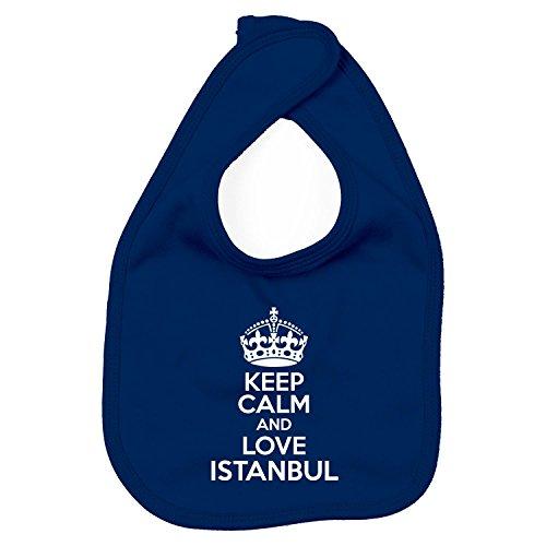 Lätzchen - Keep Calm And Love Istanbul - Heimweh Geschenkidee Türkei, Navy