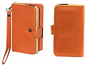 Jo Jo A9 Nillofer Leather Carry Case Cover Pouch Wallet Case For Nokia Lumia 822 Orange