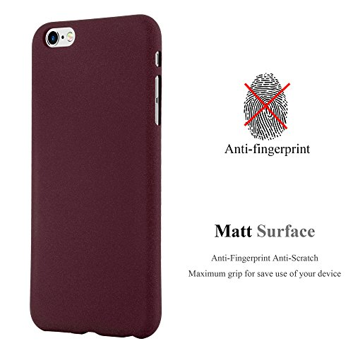 Cadorabo - Ultra Slim TPU Frosted Mate Coque Gel (silicone) pour Apple iPhone 6 / 6S - Housse Case Cover Bumper en FROST-NOIR FROSTED-LILAS-BORDEAUX