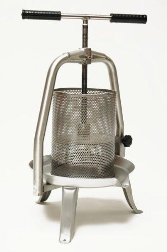 Edelstahl Spindelpresse V20 Inox 10 Liter