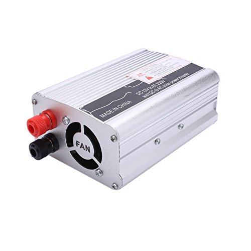 Leaftree 3000W Peak DC 12V to AC 220V Solar Power Inverter Converter USB Output Stable,Black and Silver Dc Power Inverter