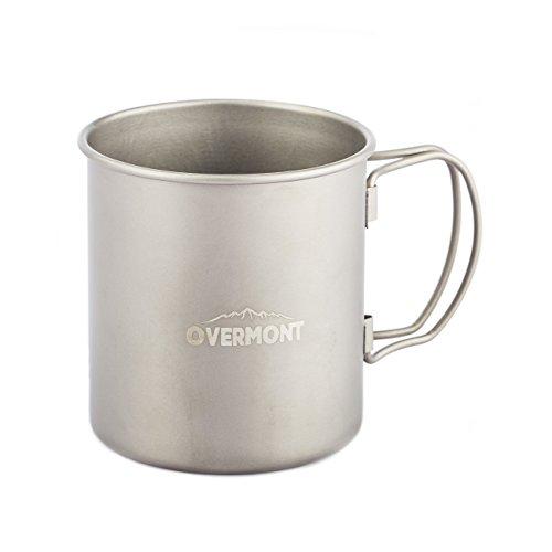 Ovemront Wassertasse Kaffeetasse Teetasse Trinkbecher Titan Tasse für Küche Camping Wandern Picknick Outdoor 420ml