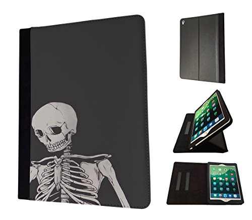 Preisvergleich Produktbild 002814 - Scary Skeleton Walking Dead Design Apple ipad Mini 4 -2015 Fahion Trend TPU Leder Brieftasche Hülle Flip Cover Book Wallet Stand halter Case