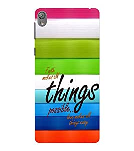 EPICCASE Faith and love Mobile Back Case Cover For Sony E5 (Designer Case)