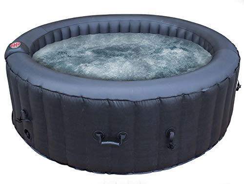 Airwave Inflatable Hot Tub 6 Person Portable Spa Aruba, Black