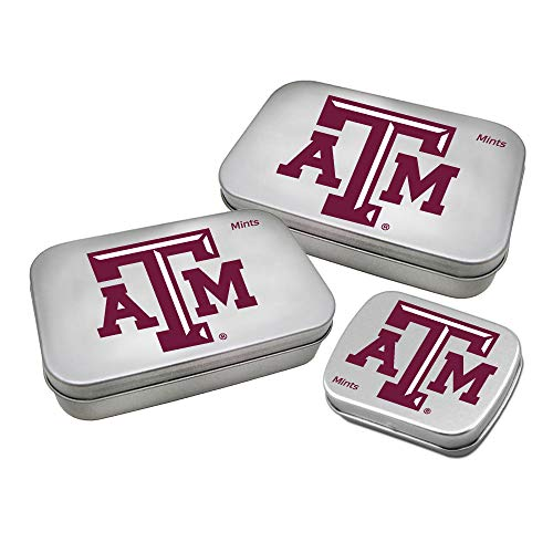 Worthy Promotional NCAA Texas A&M Aggies Decorative Mint Tin 3-Pack with Sugar-Free Mini Peppermint Candies