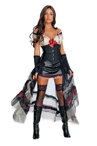 Jonah Hex Western Damen Kostüm Lilah schwarz Gr.M - Jonah Hex Kostüm