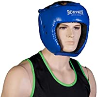 Boxing Leather Pro Protective Headguard Helmet Red or Blue Head guard