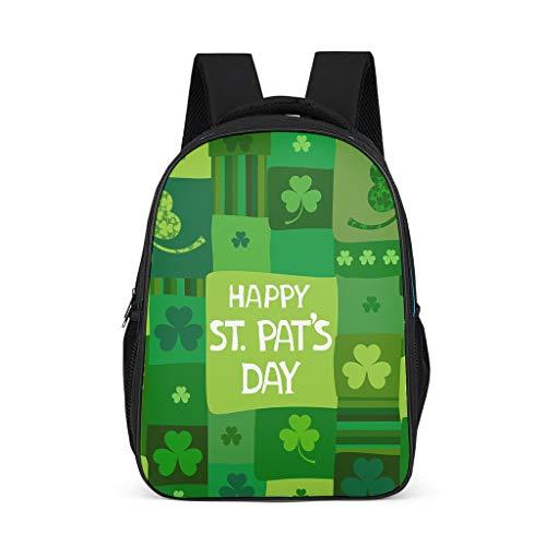 XJJ88 St Patrick's Day Mochilas personalizadas delgadas y duraderas, diseño temático,...