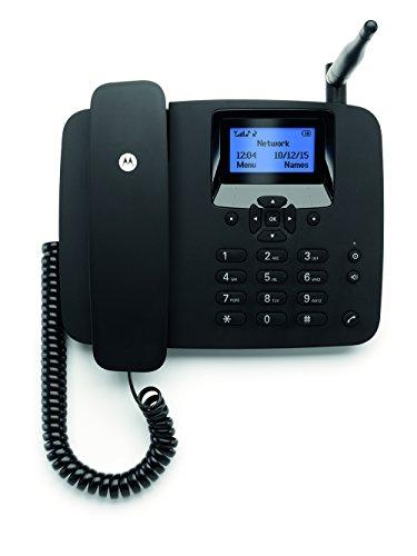Motorola FW200L GSM Tischtelefon für 2G Mobilfunknetz (GSM Quadband: 850/900/1800/1900MHz) (Tischtelefon Mit Schnurlosem Telefon)