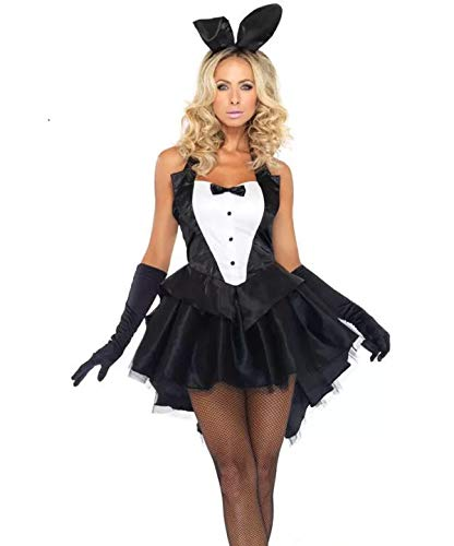 Kostüm Fancy Dress Damen Bunny - thematys Sexy Playboy Bunny Kleid - Kostüm-Set für Damen - perfekt für Fasching, Karneval & Cosplay (XX-Large) 170cm bis 175cm