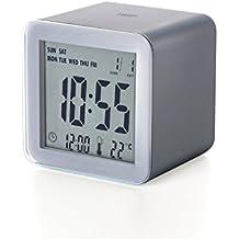 Lexon lr103px6cubo despertador LCD Sensor ABS Métallisé acabado goma gris 5,5x 5,5x 5,5cm)