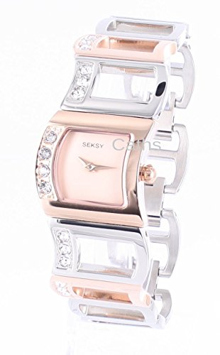 Sekonda Women's Quartz Watch with Rose Gold Dial Analogue Display and Multi-Colour Stainless Steel Bracelet 2040.37 Best Price and Cheapest