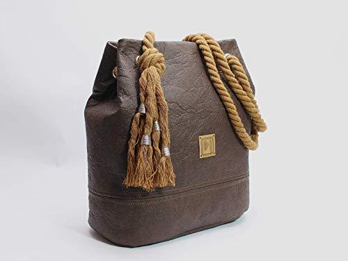 Braune Tasche aus Ananasfaser - Piñatex® - 6