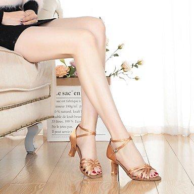 Scarpe da ballo-Non personalizzabile-Da donna-Balli latino-americani-Quadrato-Raso-Nero Blu Carne nude