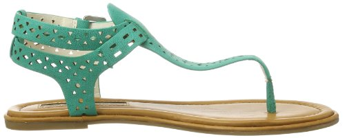 Buffalo London 313-4890 LEATHER PU 150558 Damen Sandalen Grün (Green 02)