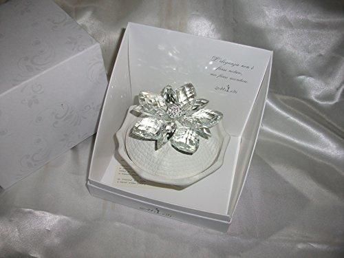 Bomboniere matrimonio battesimo comunione portaoggetti ceramica swarovski contattateci per quantita'!
